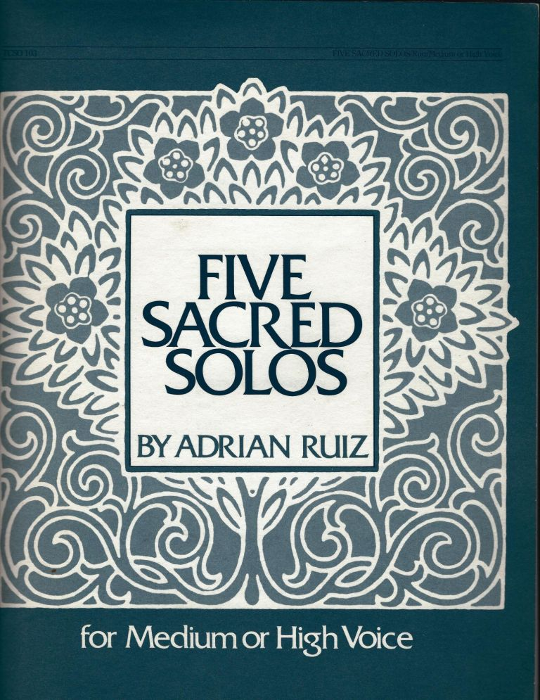 Five Sacred Solos for Medium or High Voice; The Lord's Prayer, Show Me the Way, the Twenty-third Psalm, Tale, Lamb of God)