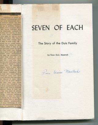 Seven of each; the story of the Duis family