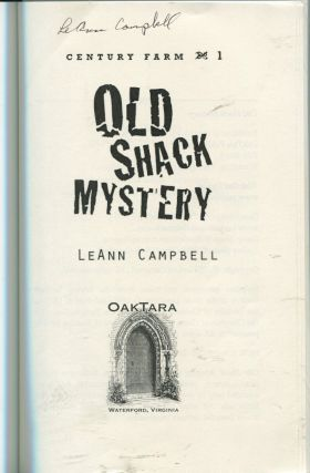 Old Shack Mystery; Century Farm 1