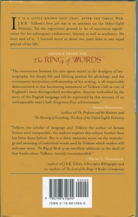 The Ring of Words; Tolkien and the Oxford English Dictionary