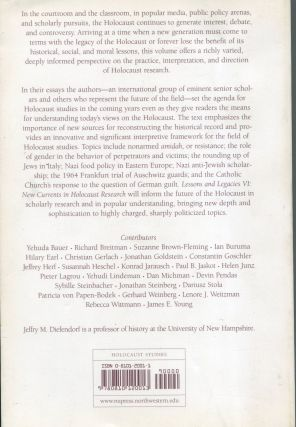 Lessons and Legacies: Volume VI; new currents in Holocaust research